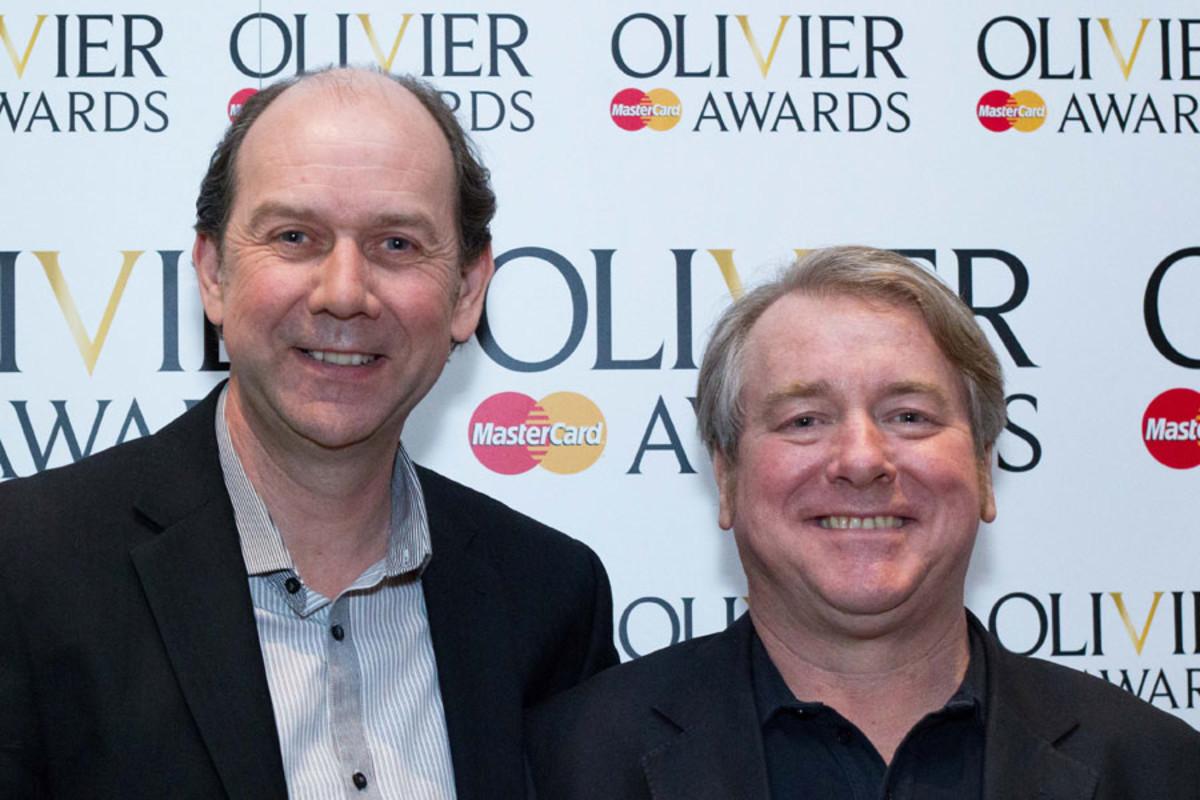 Jonty Stephens and Ian Ashpitel at the Olivier Awards Nominees Lunch 2014