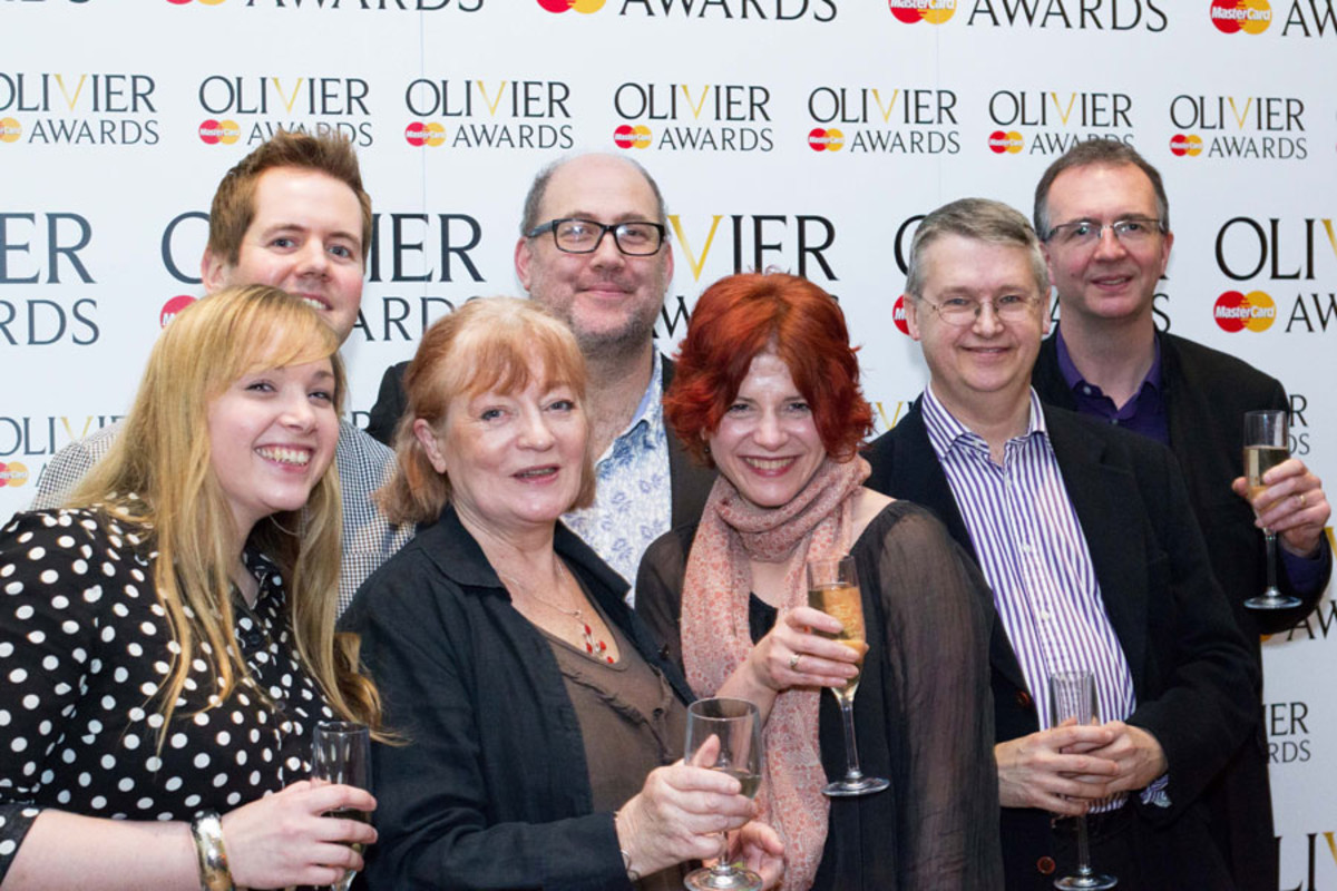 Merrily We Roll Along's orchestra at the Olivier Awards Nominees Lunch 2014