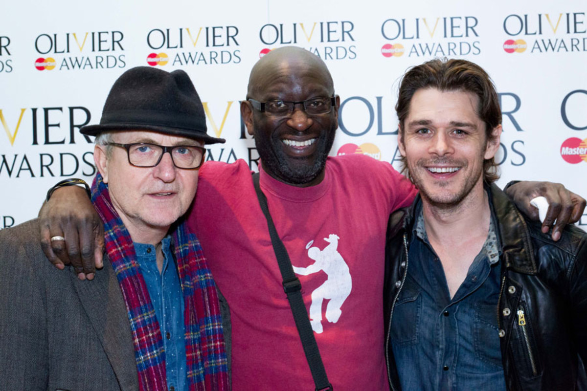 Simon Rouse, Sidney Cole and Kenny Doughty at the Olivier Awards Nominees Lunch 2014