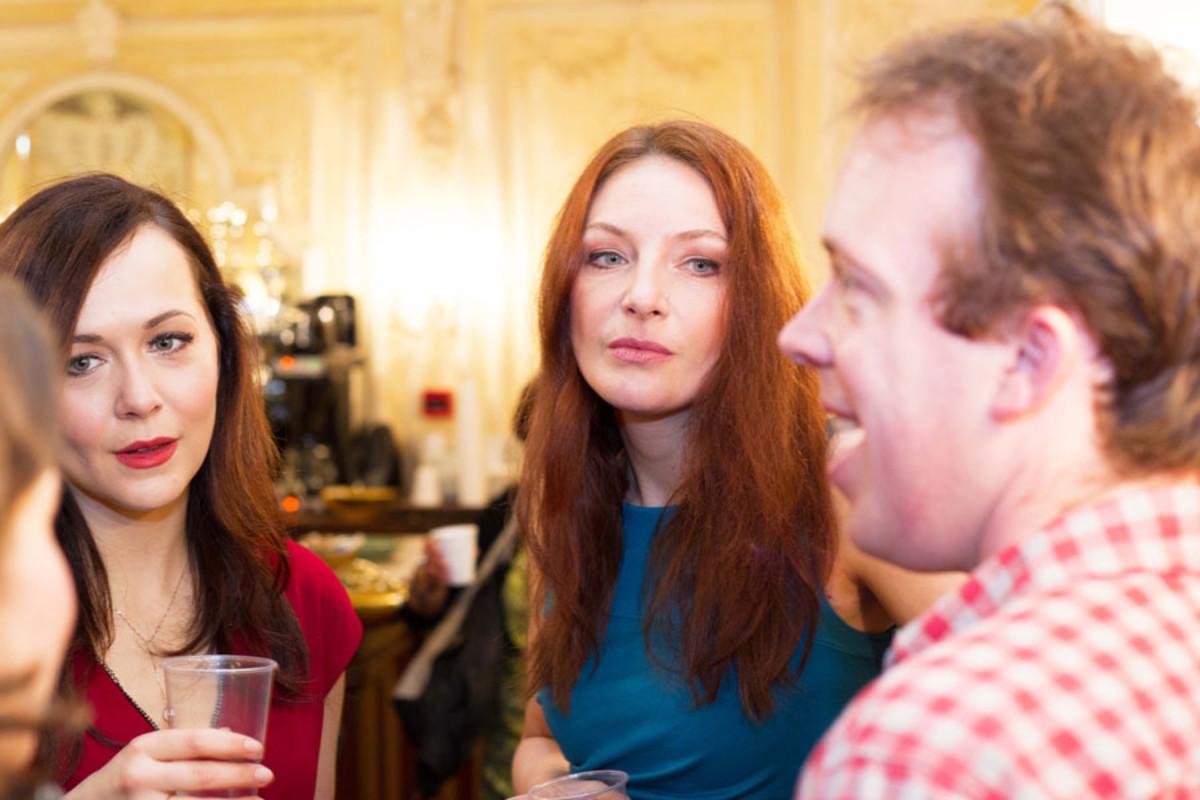 Savannah Stevenson and Willemijn Verkaik at the Olivier Awards Nominees Lunch 2014