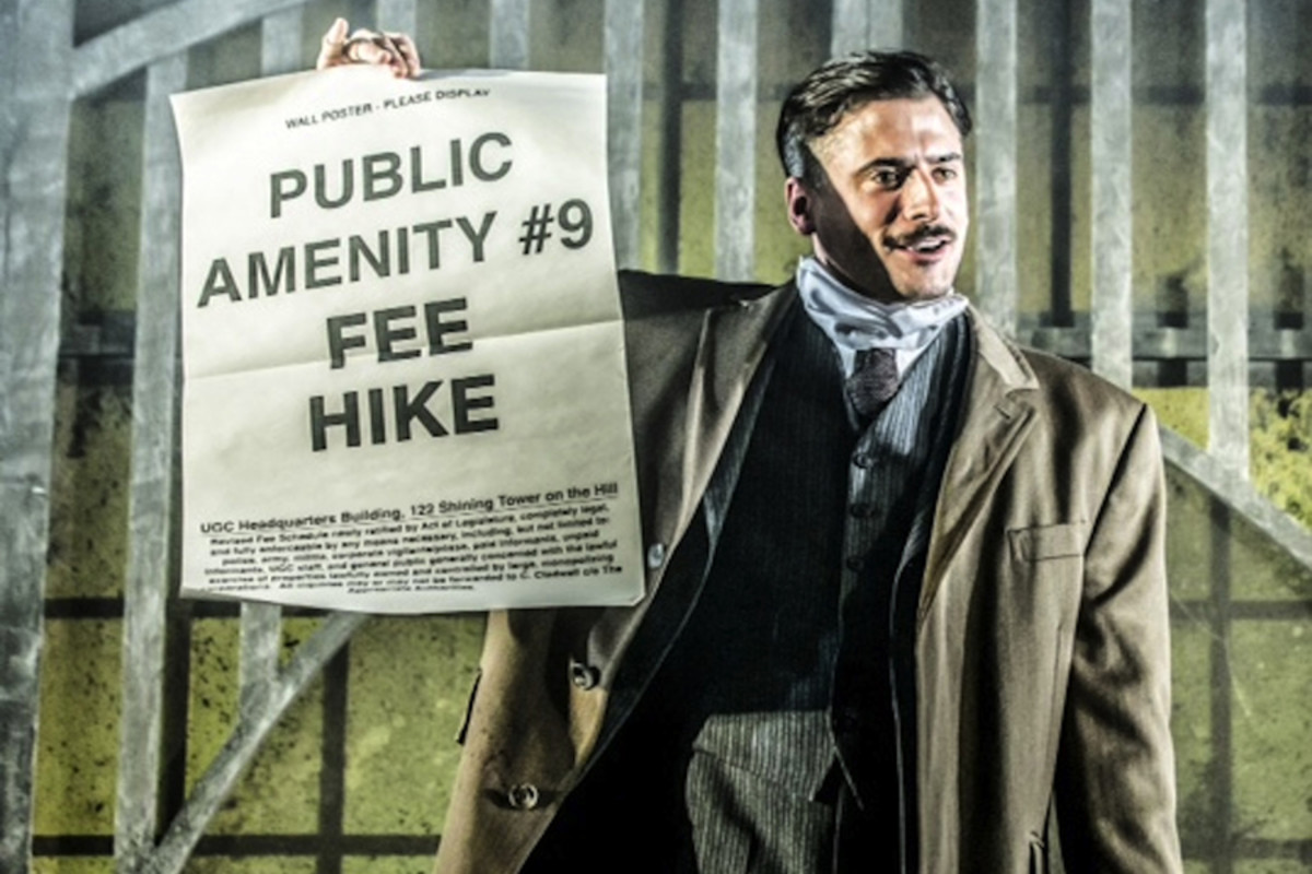 Marc Elliott in Urinetown The Musical (Photo: Johan Persson)