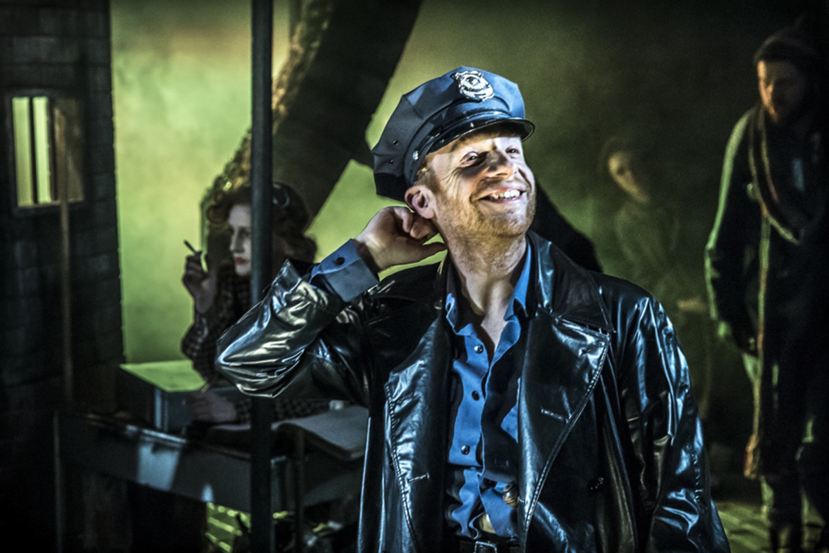 Jonathan Slinger in Urinetown The Musical (Photo: Johan Persson)