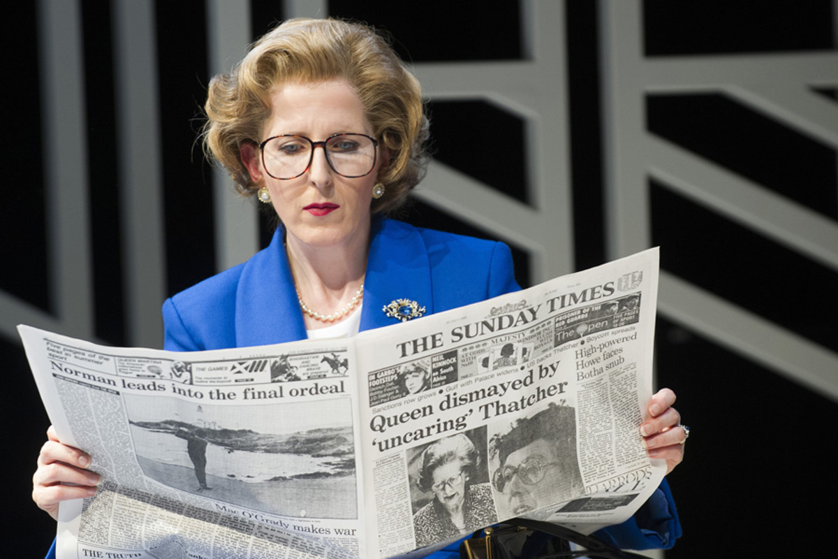 Handbagged at the Tricycle Theatre (Photo: Tristram Kenton)