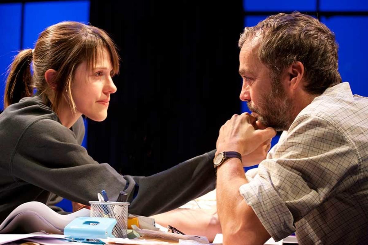 Amanda Hale and John Hannah star in Uncle Vanya at the St James Theatre (Photo: Simon Annand)