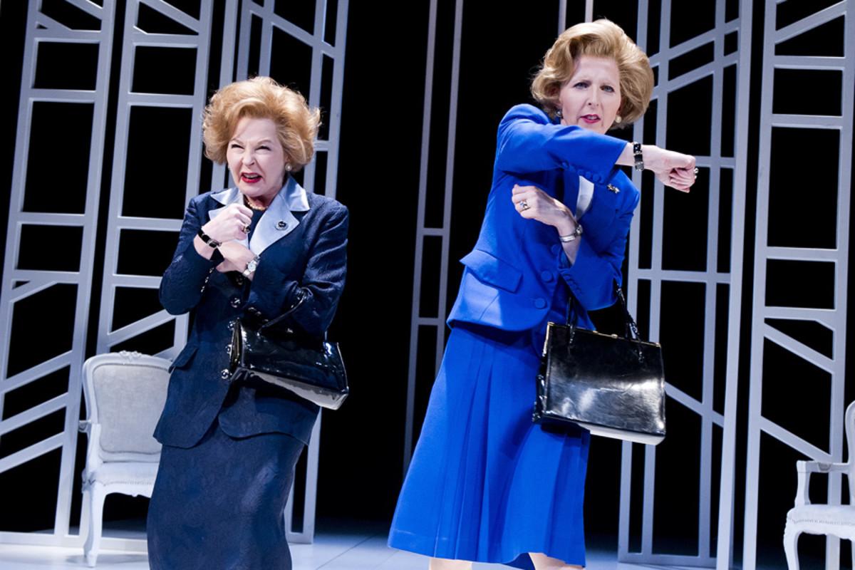 Stella Gonet and Fenella Woolgar at the Vaudeville Theatre (Photo: Tristram Kenton)