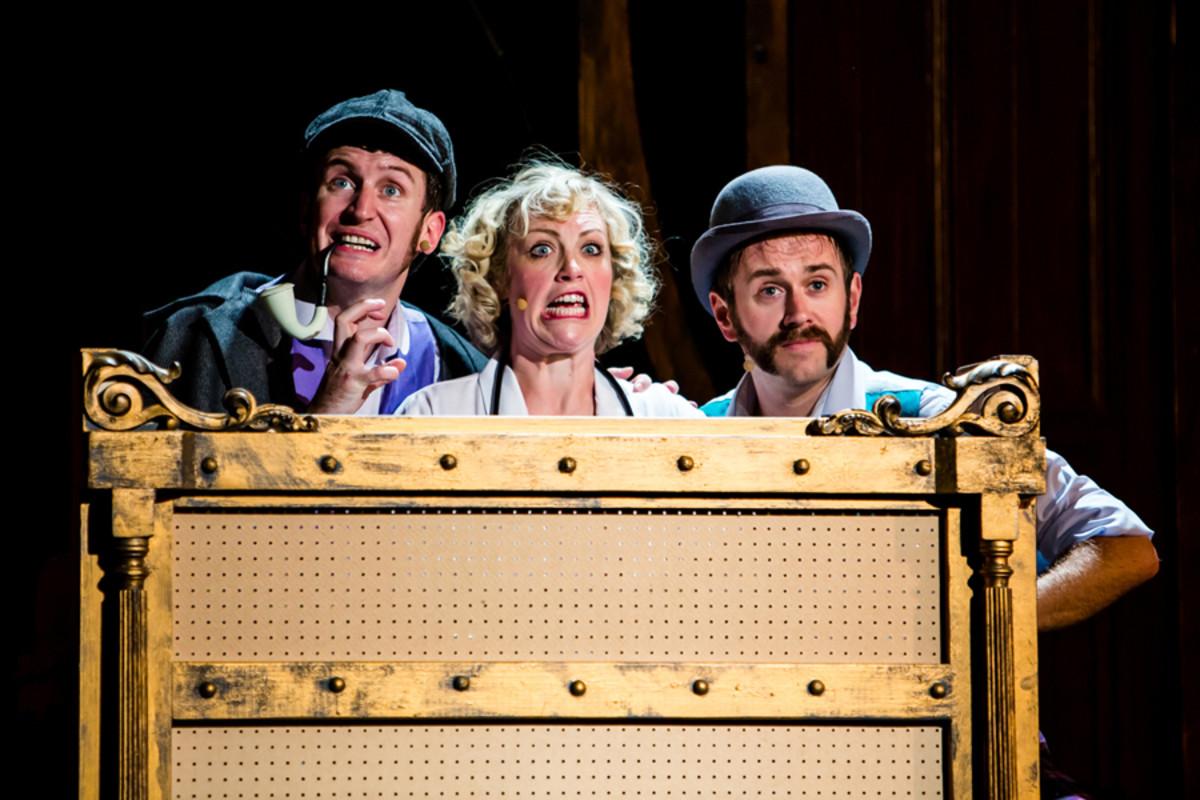 Dan Clarkson, Lizzie Wort and Jeff Turner in Potted Sherlock
