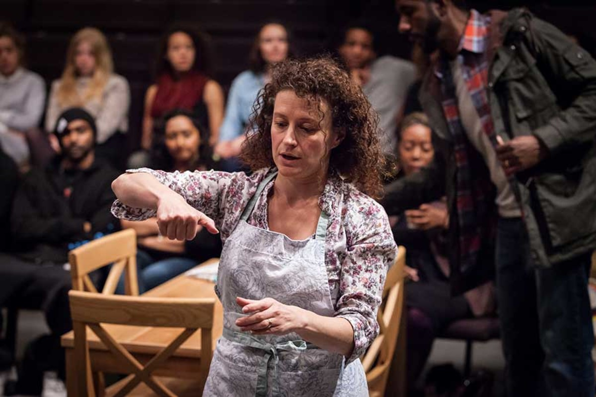 Anna Francolini stars in Our Town, playing at the Almeida Theatre (Photo: Marc Brenner)