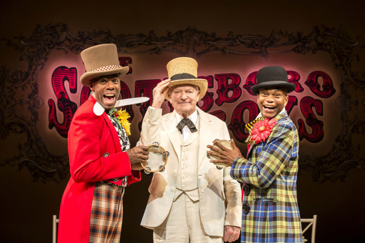 Colman Domingo, Julian Glover and Forrest McClendon in The Scottsboro Boys at the Garrick Theatre