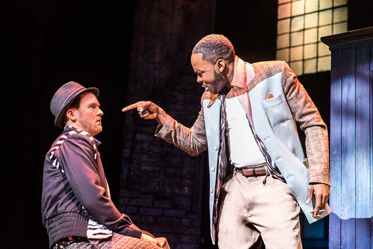 Killian Donnelly and Rolan Bell star in Memphis, playing at the Shaftesbury Theatre (Photo: Johan Persson)