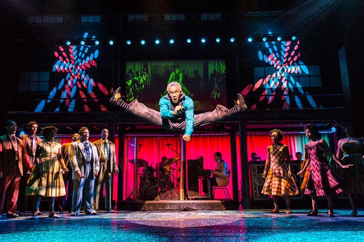 Jason Pennycooke stars in Memphis, playing at the Shaftesbury Theatre (Photo: Johan Persson)