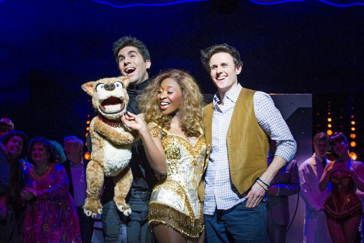 I Can't Sing's Barlow (Simon Lipkin), Chenice (Cynthia Erivo) and Max (Alan Morrissey)