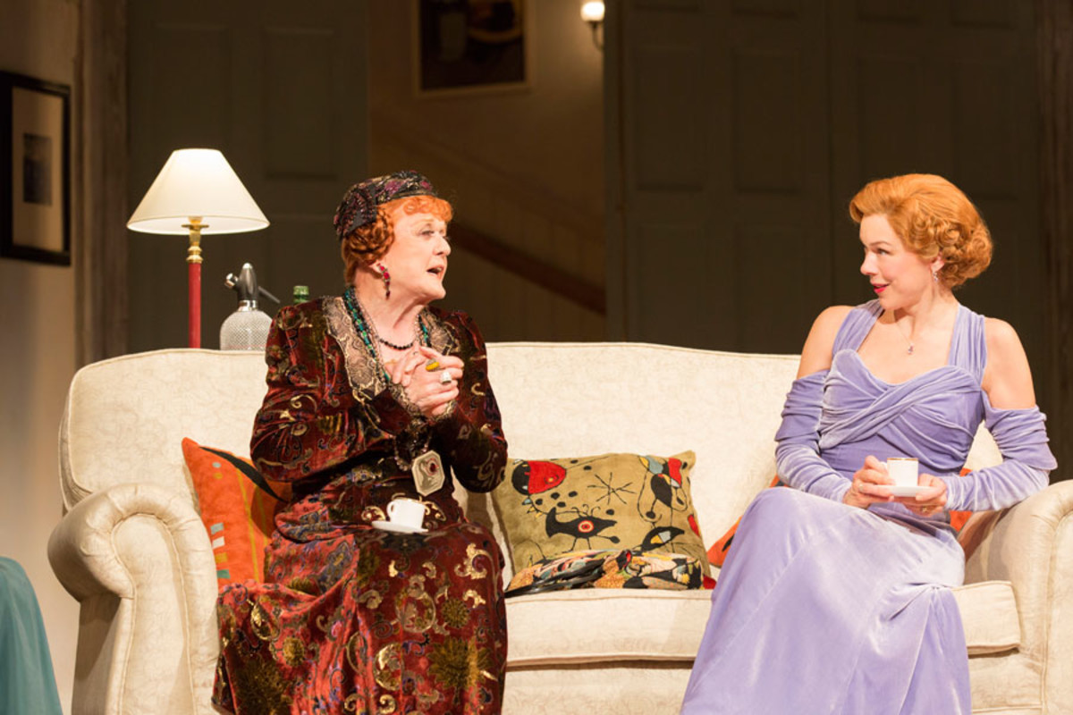 Angela Lansbury and Janie Dee in Blithe Spirit (Photo: Johan Persson)