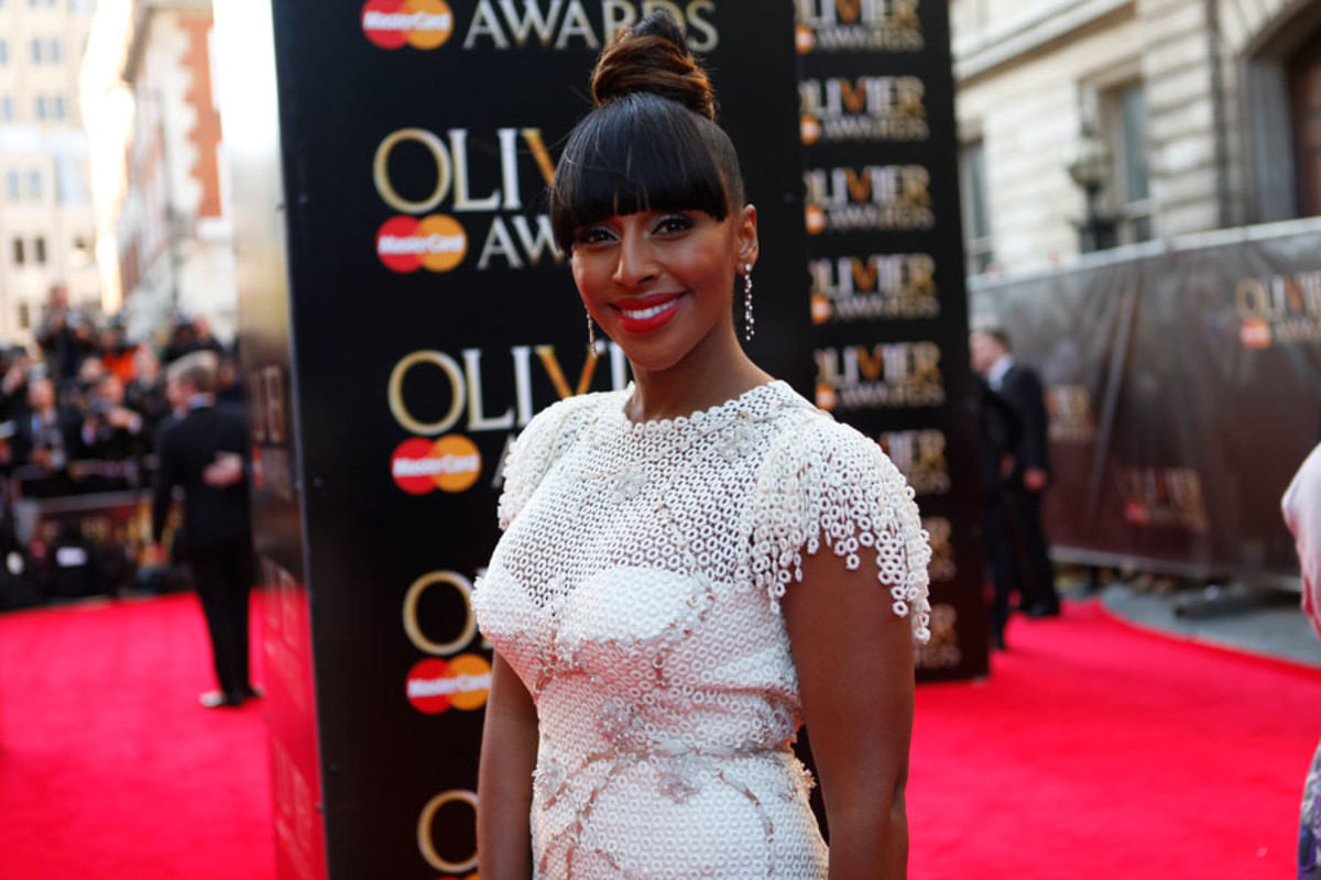 Alexandra Burke walks the red carpet at the Olivier Awards 2014 with MasterCard (Photo: Pamela Raith)