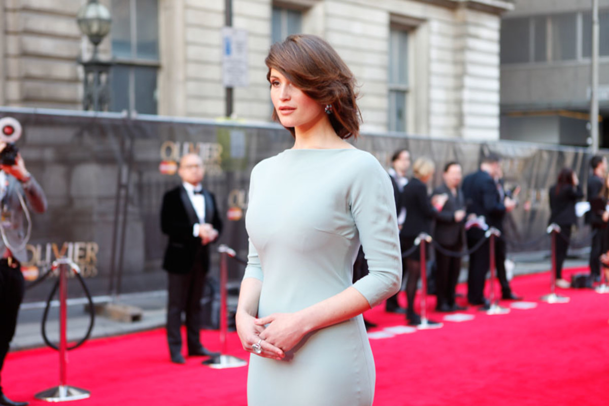 Co-host Gemma Arterton walks the red carpet at the Olivier Awards 2014 with MasterCard (Photo: Pamela Raith)