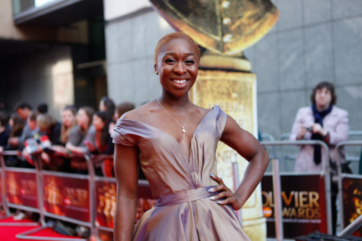 I Can't Sing star Cynthia Erivo walks the red carpet at the Olivier Awards 2014 with MasterCard (Photo: Pamela Raith)
