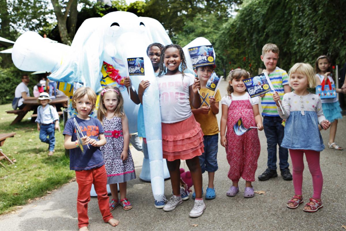 The Elephantom at the Kids Week launch 2014 (Photo: Pamela Raith)