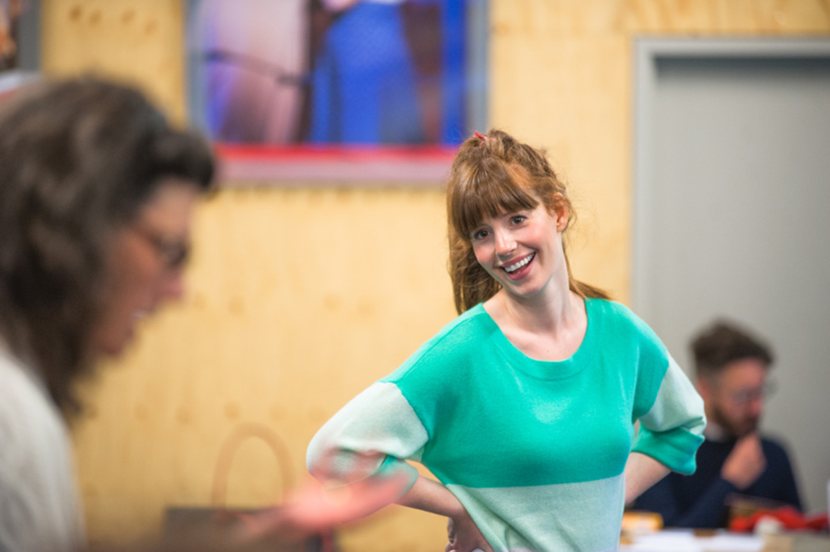 Amy Nuttall in rehearsals for All My Sons at the Regent's Park Open Air Theatre (Photo: Tommy Ga-Ken Wan)