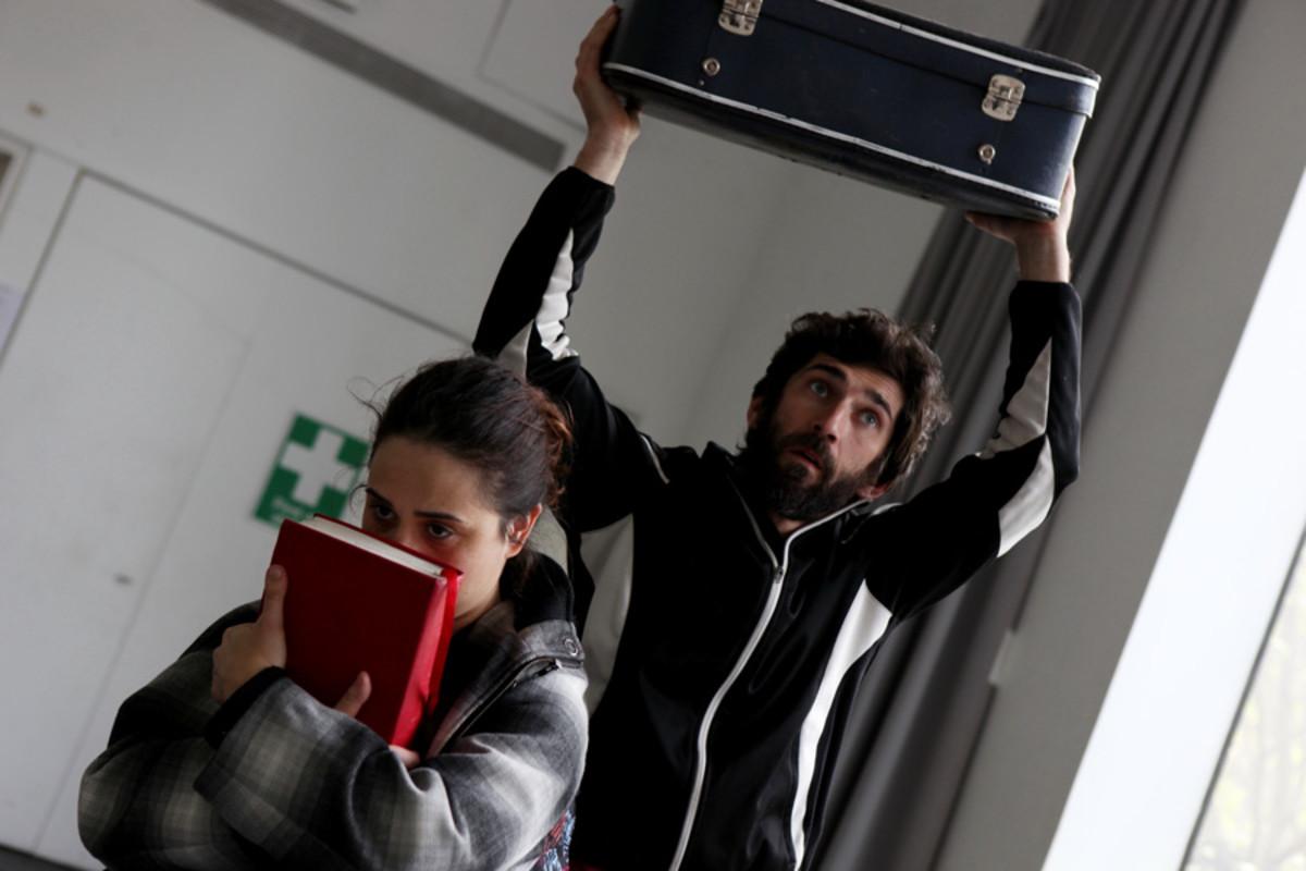 Samantha Beart and Krystian Godlewski in rehearsal for 1001 Nights (Photo: Zbigniew Kotkiewicz)