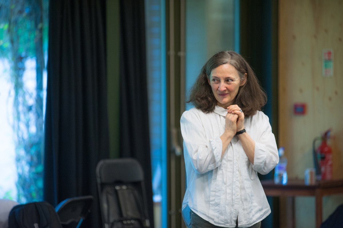 Brid Brennan in rehearsals for All My Sons at the Regent's Park Open Air Theatre (Photo: Tommy Ga-Ken Wan)