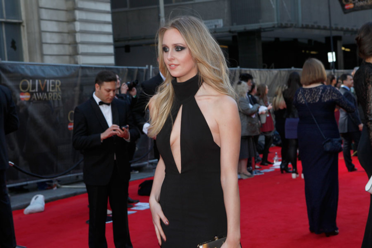 The Duck House star Diana Vickers walks the red carpet at the Olivier Awards 2014 with MasterCard (Photo: Pamela Raith)