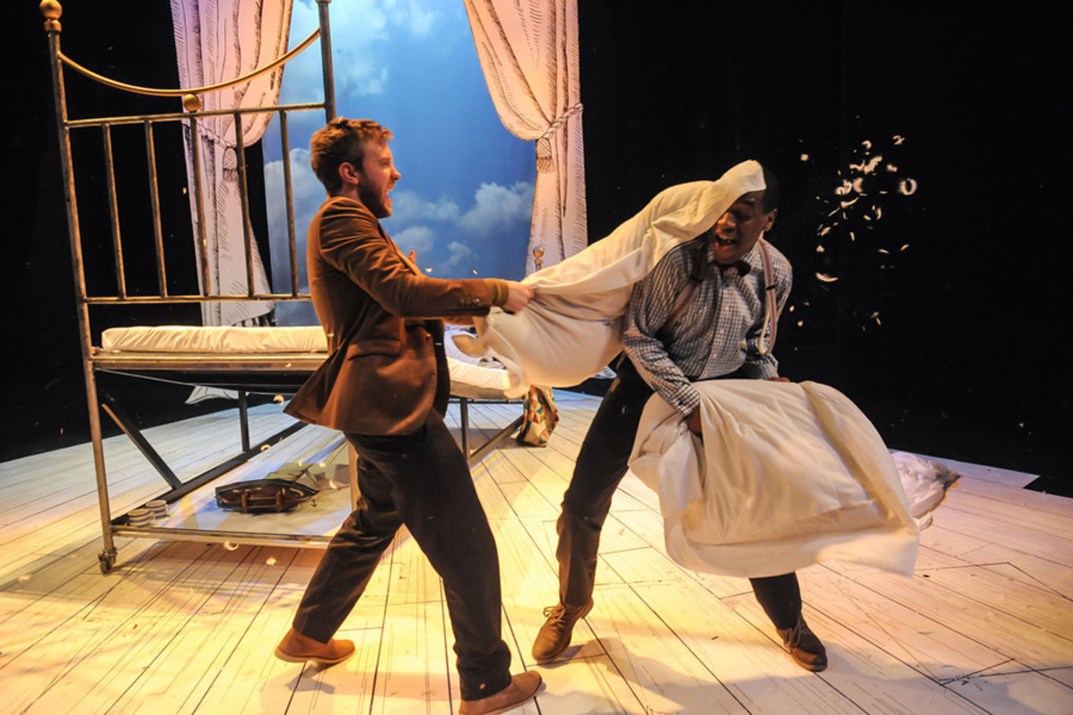 Christian Roe and Syrus Lowe in The Velveteen Rabbit (Photo: Robert Day)