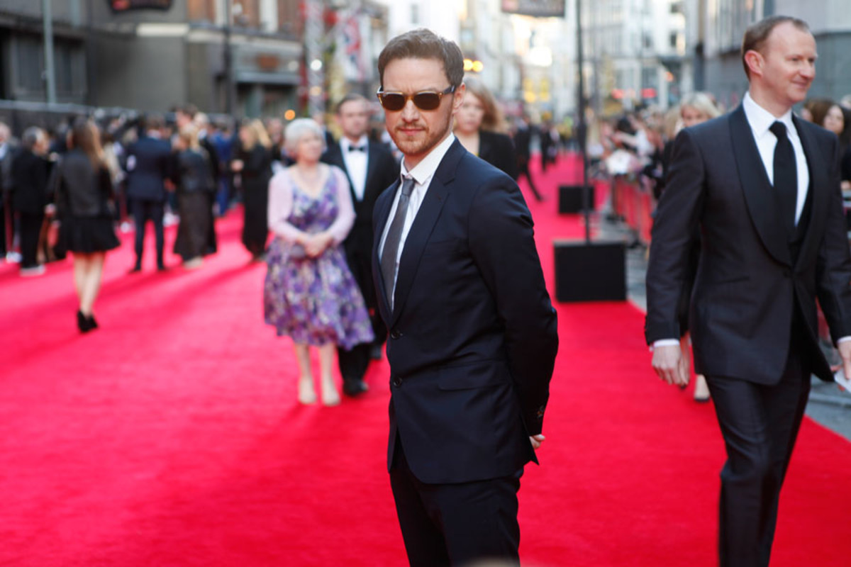 Presenter James McAvoy walks the red carpet at the Olivier Awards 2014 with MasterCard (Photo: Pamela Raith)