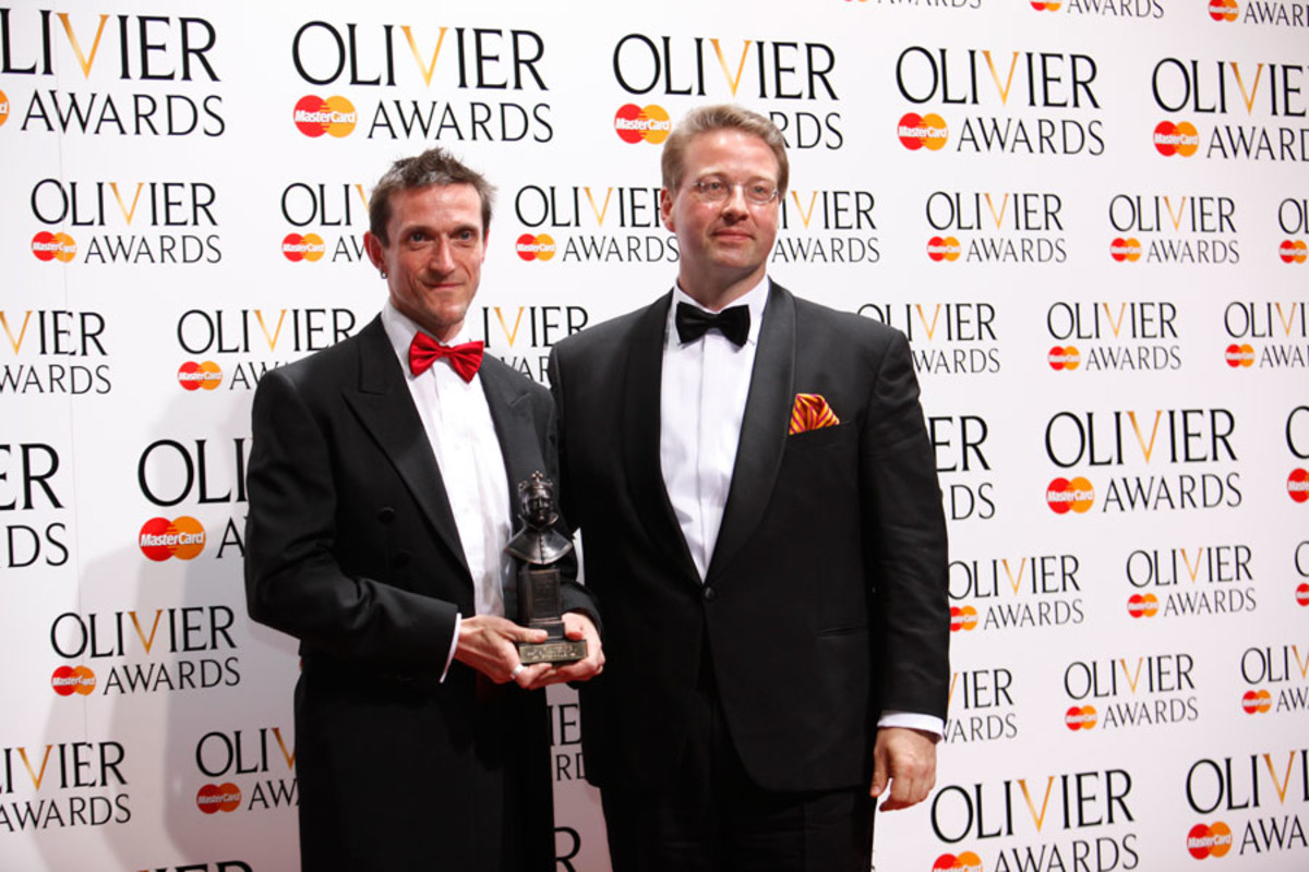 Andre De Jong and Alexander Meier-Dörzenbach, winners of the Best New Opera Award for Les Vêpres Siciliennes (Photo: Pamela Raith)