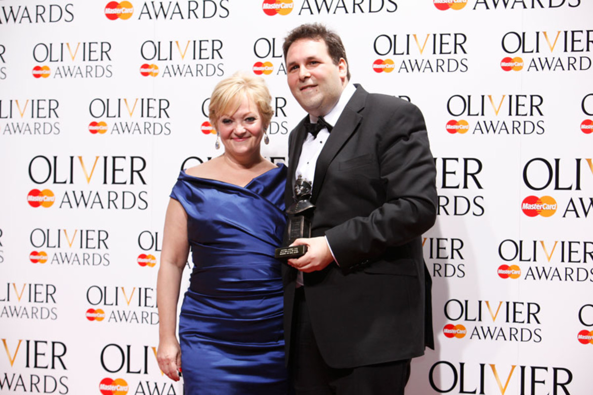 Maria Friedman and David Babani, winners of Best Musical Revival (Photo: Pamela Raith)