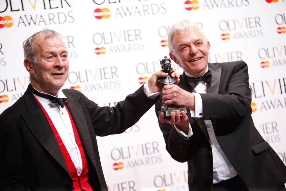David and Robert Goodale, winners of the Best New Comedy Award (Photo: Pamela Raith)
