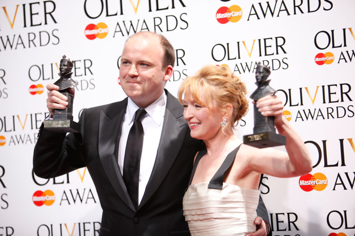 Olivier Awards 2014 Best Actor and Actress, Rory Kinnear and Lesley Manville (Photo: Pamela Raith)