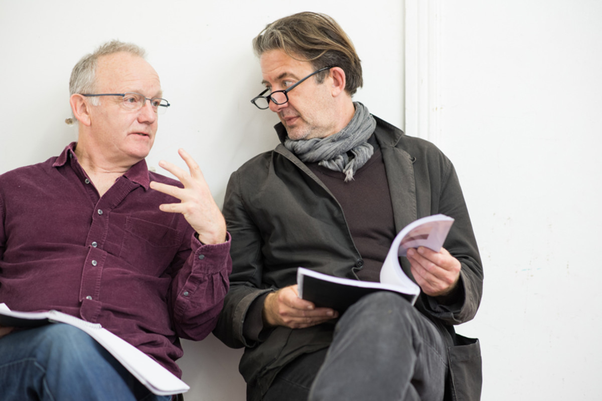 Bruce Alexander and Jay Villiers in rehearsal for Accolade at the St James Theatre (Photo: Ben Broomfield)