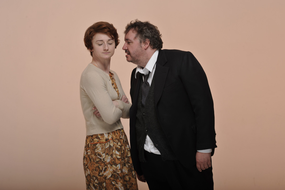 Hobson's Choice's Jodie McNee and Mark Benton (Photo:  Hugo Glendinning)