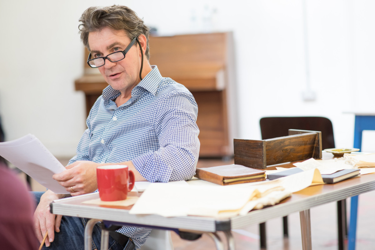 Alexander Hanson in rehearsal for Accolade at the St James Theatre (Photo: Ben Broomfield)