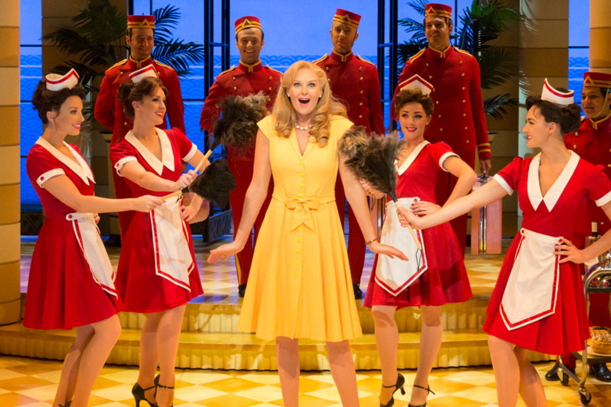 Katherine Kingsley and the cast of Dirty Rotten Scoundrels, playing at the Savoy theatre (Photo: Johan Persson)