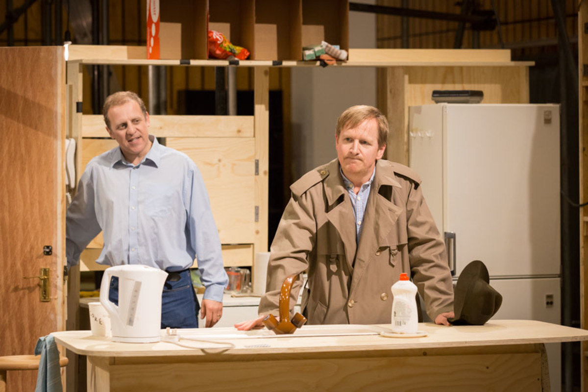 Nigel Lindsay and Matthew Cottle rehearse A Small Family Business, playing at the National Theatre (Photo: Johan Persson)