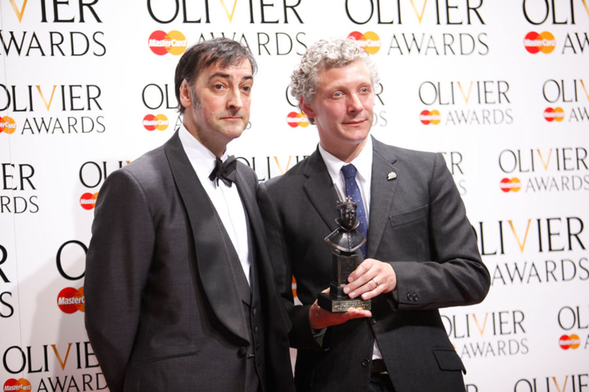 Will Tuckett, winner of Best Entertainment And Family, with presenter Alistair McGowan (Photo: Pamela Raith)