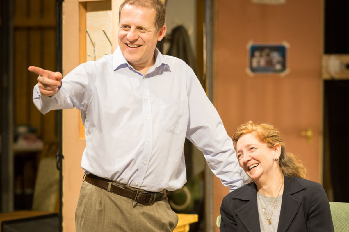 Nigel Lindsay and Debra Gillett rehearse A Small Family Business, playing at the National Theatre (Photo: Johan Persson)