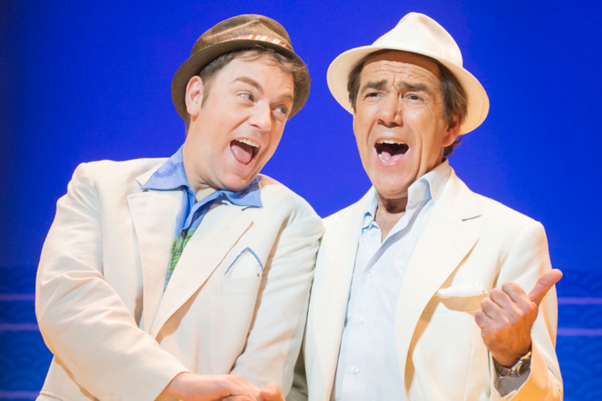 Rufus Hound and Robert Lindsay in Dirty Rotten Scoundrels, playing at the Savoy theatre (Photo: Johan Persson)