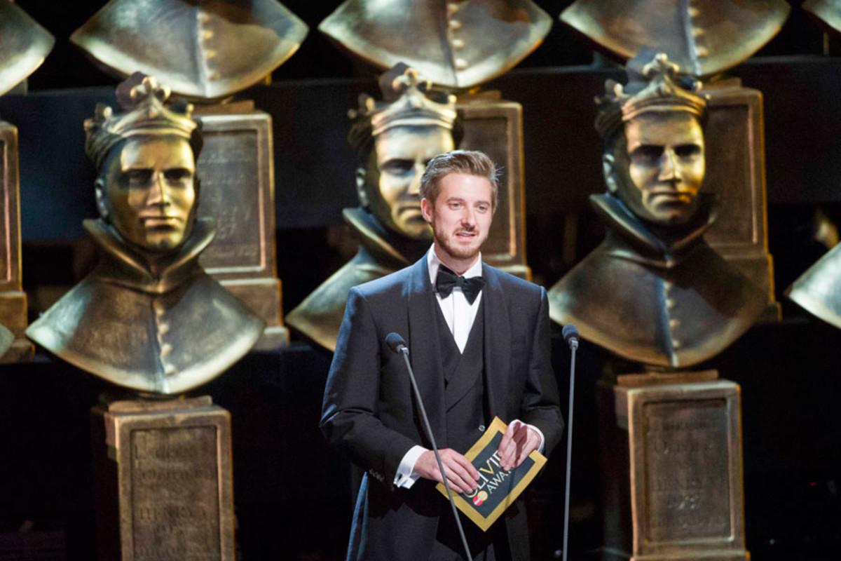 Arthur Darvill presents at the Olivier Awards 2014 with MasterCard (Photo: Alastair Muir)