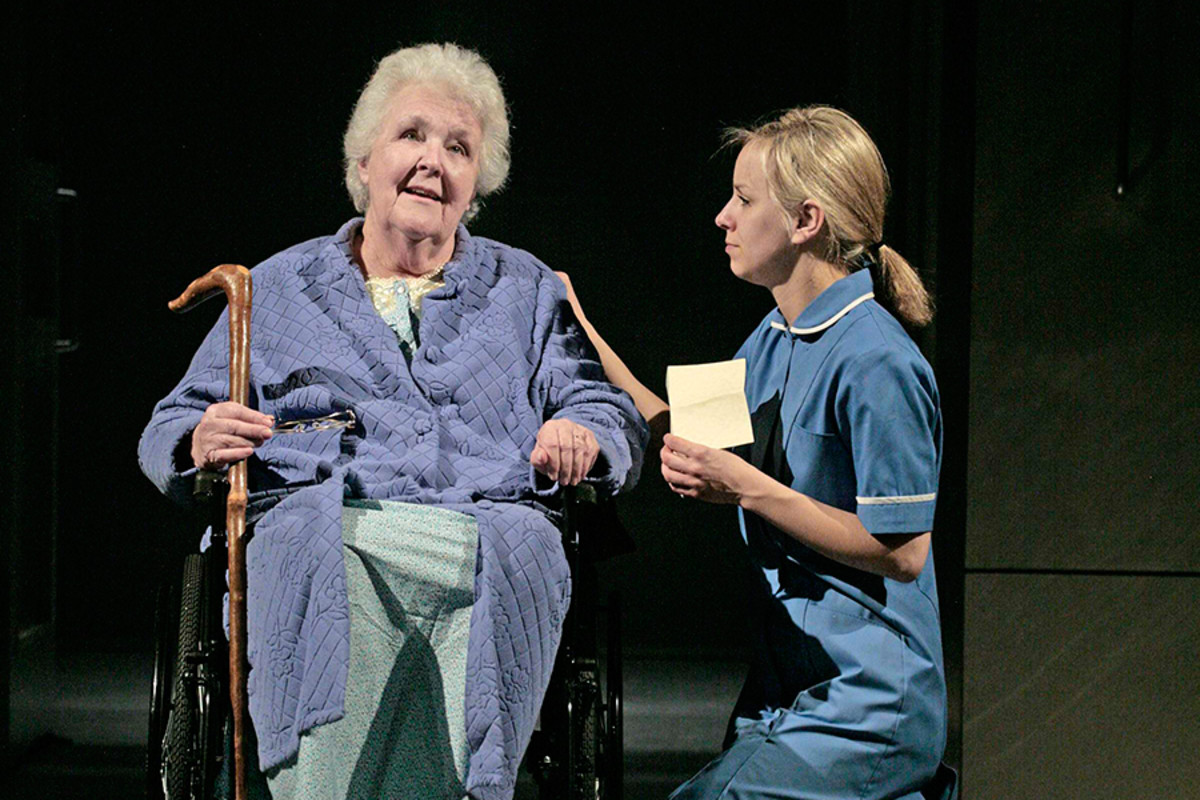 Stephanie Cole and Natalie Klamar in This May Hurt A Bit at the St James Theatre (Photo: John Haynes)