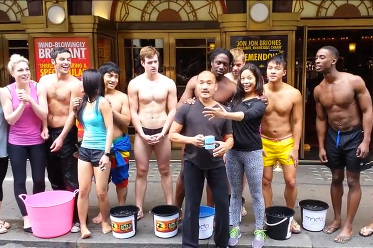 The cast of Miss Saigon take the ALS Ice Bucket Challenge