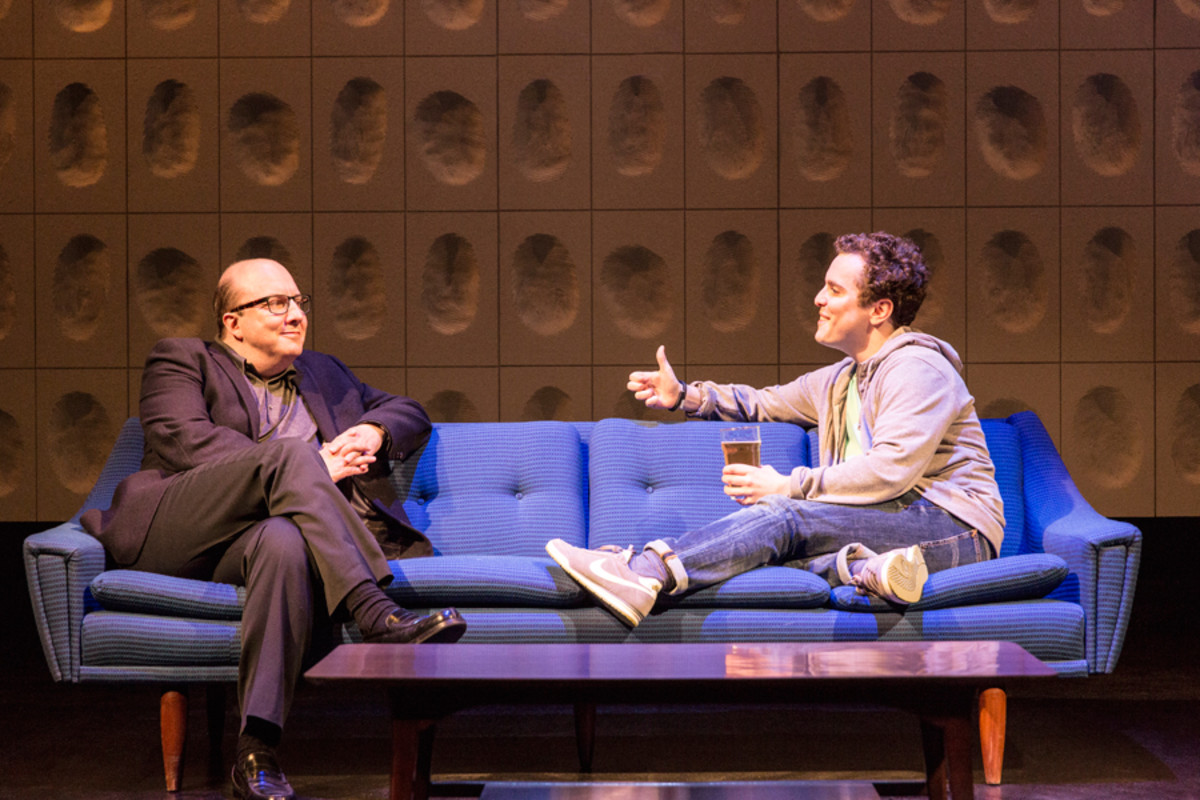 Paul Chahidi and Joshua McGuire in Privacy, playing at the Donmar Warehouse (Photo: Johan Persson)
