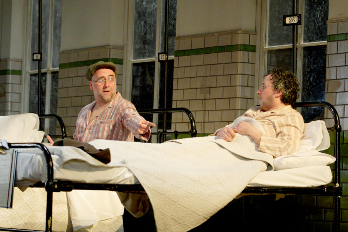 Stephen Kennedy and Aidan McArdle in The Silver Tassie at the National Theatre (Photo: Catherine Ashmore)
