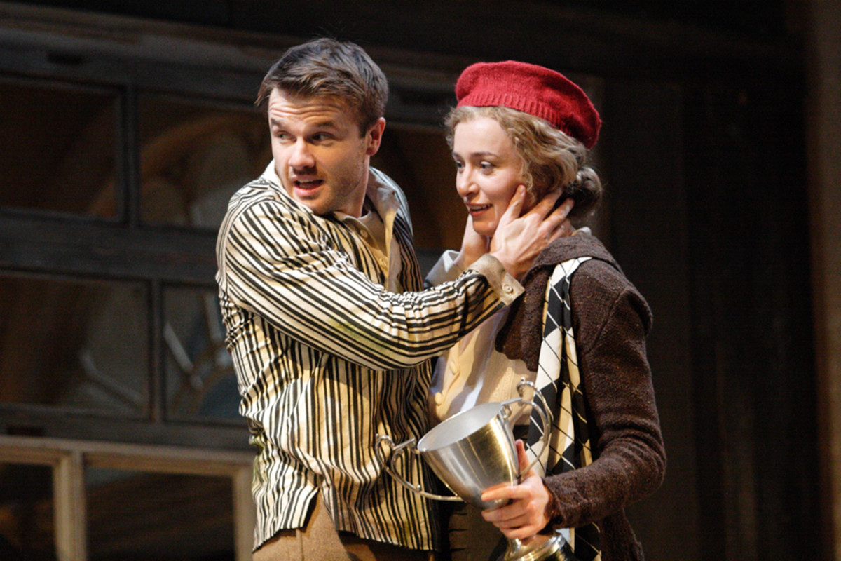 Ronan Raftery and Deirdre Mullins in The Silver Tassie at the National Theatre (Photo: Catherine Ashmore)