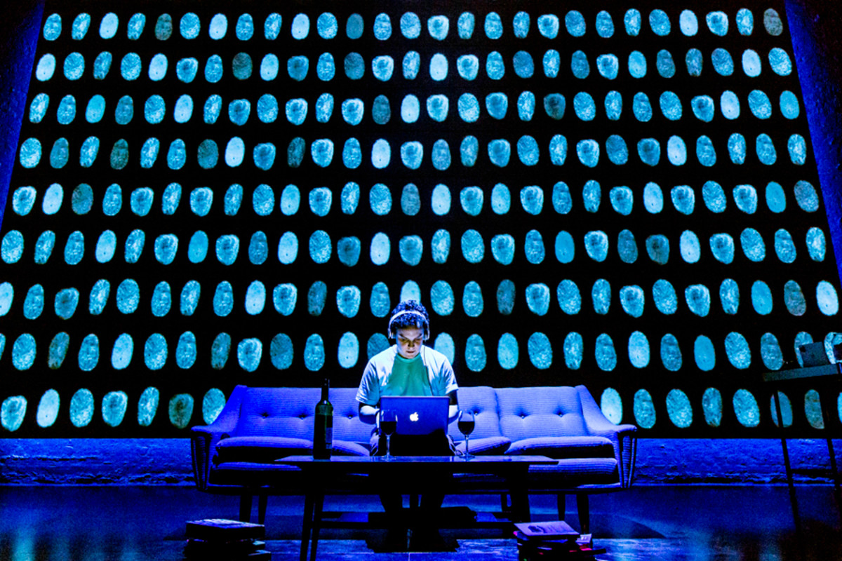 Joshua McGuire stars in Privacy, playing at the Donmar Warehouse (Photo: Johan Persson)