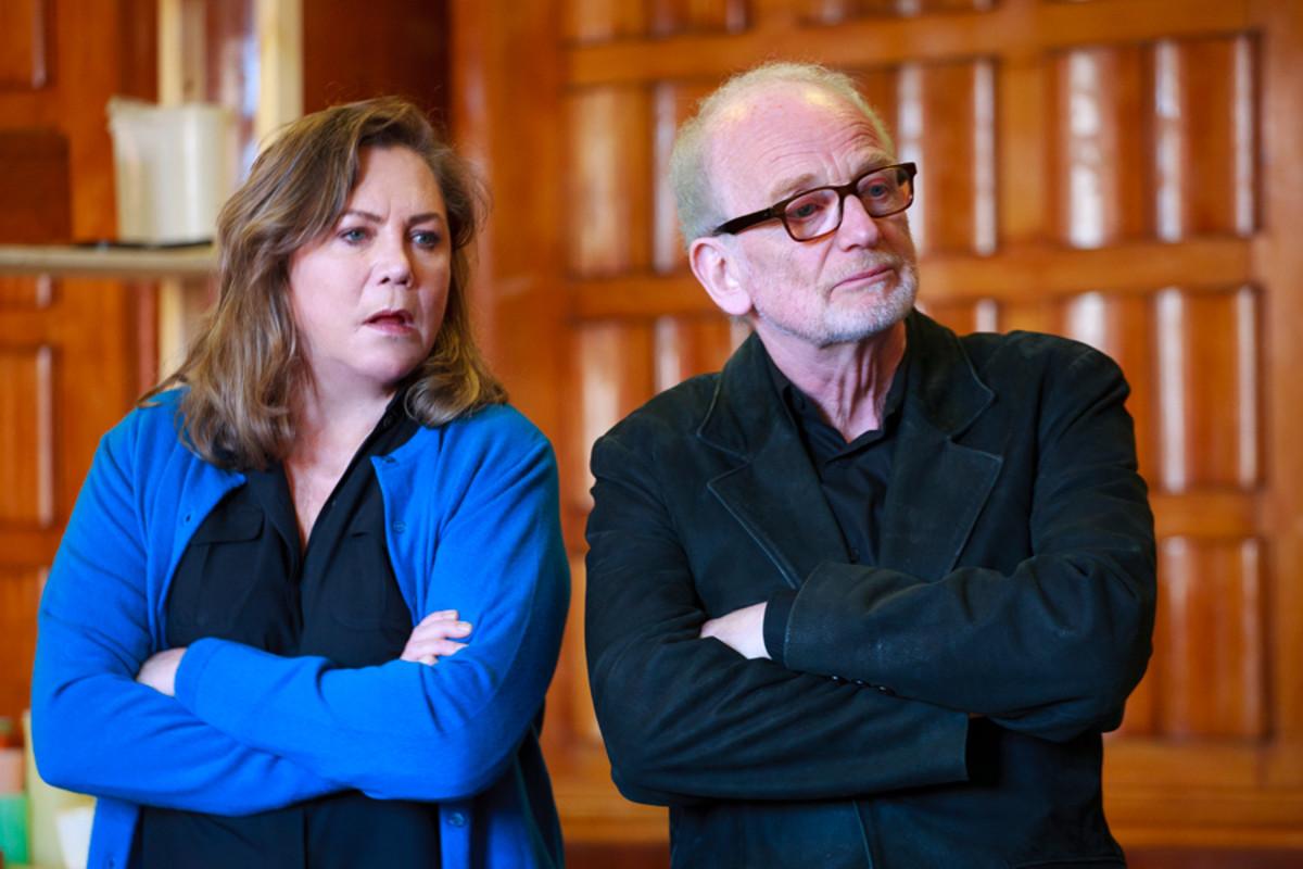 Kathleen Turner and Ian McDiarmid rehearse Bakersfield Mist (Photo: Simon Annand)