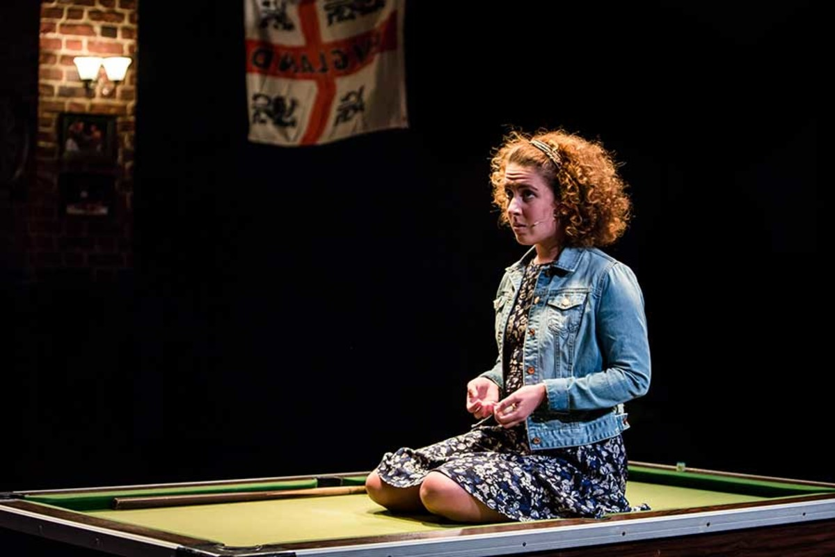 Natalie Casey stars in Albion at the Bush Theatre (Photo: Richard Davenport)