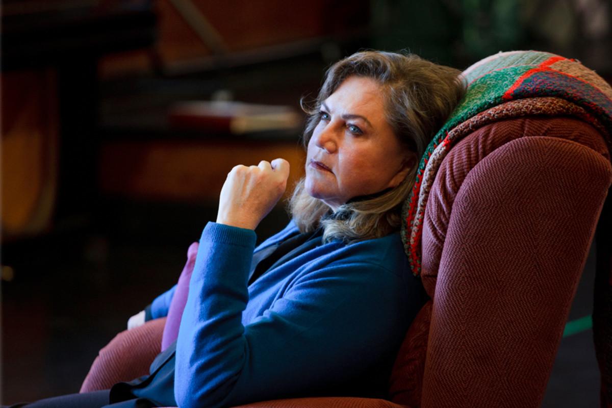 Kathleen Turner rehearses Bakersfield Mist (Photo: Simon Annand)