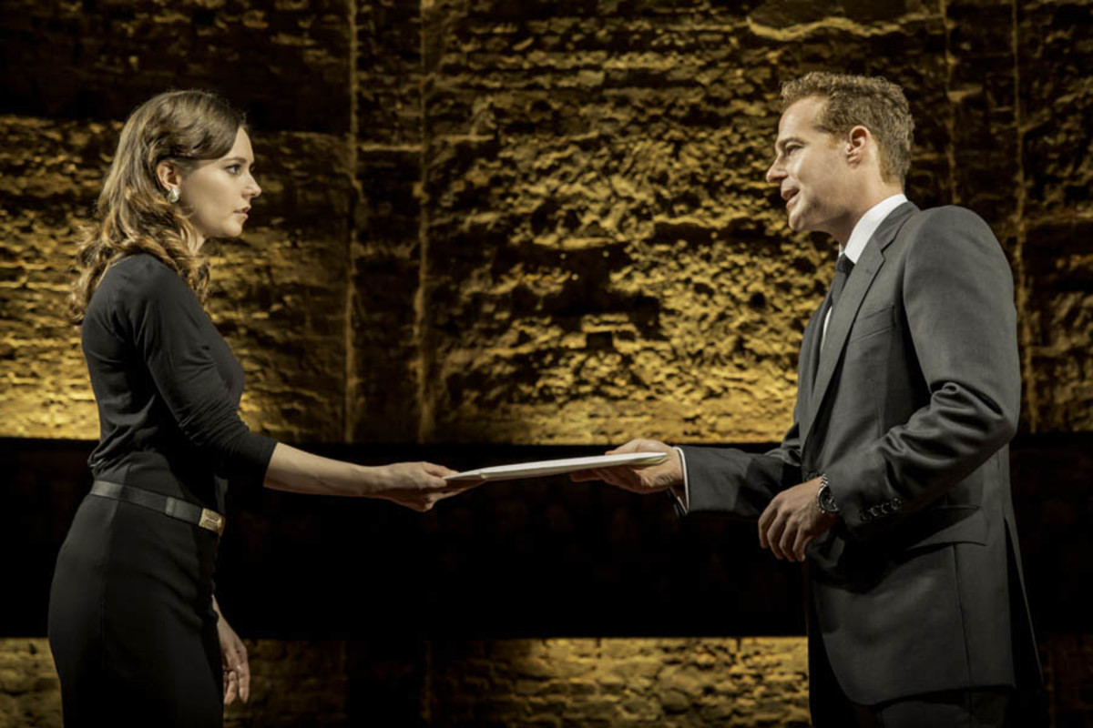 Lydia Wilson and Adam James in King Charles III (Photo: Johan Persson)