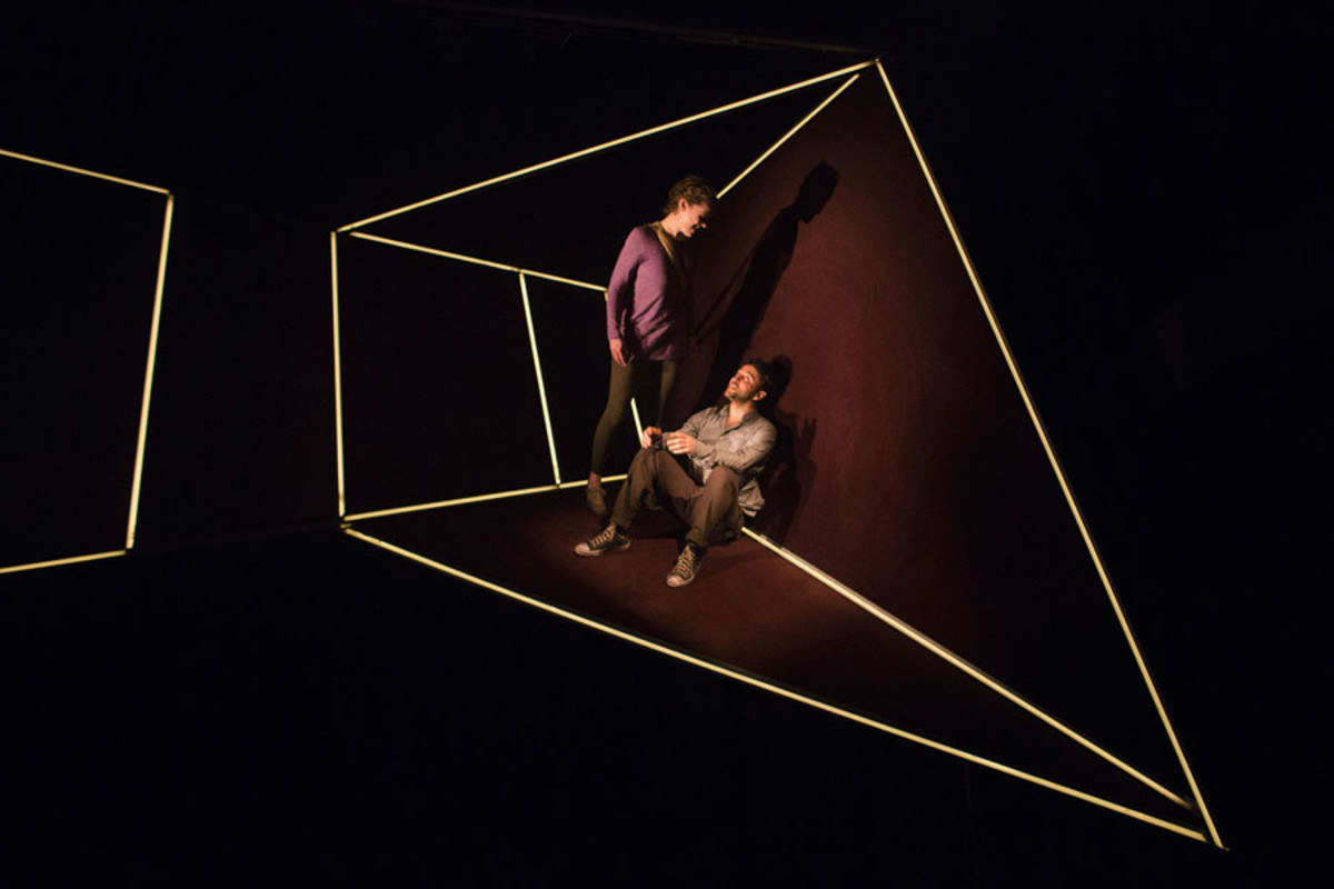 Penny Layden and Richard Mylan in Frantic Assembly's The Believers at the Tricycle Theatre (Photo: Helen Maybanks)